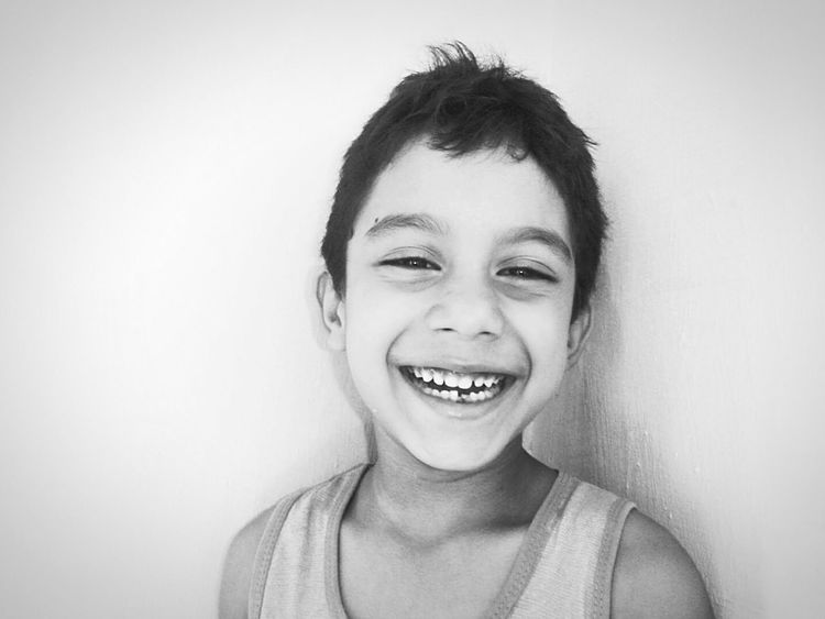 Children Only Child Happiness Toothy Smile Smile Laughing Faces Childhood Smiling Black And White