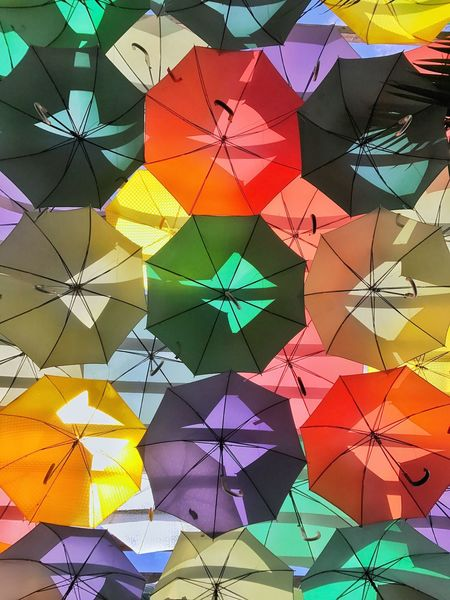 Photography Jaysalvarez Multi Colored Art And Craft Design Pattern Variation Full Frame No People Backgrounds Day Architecture Indoors  Umbrella Interior Design