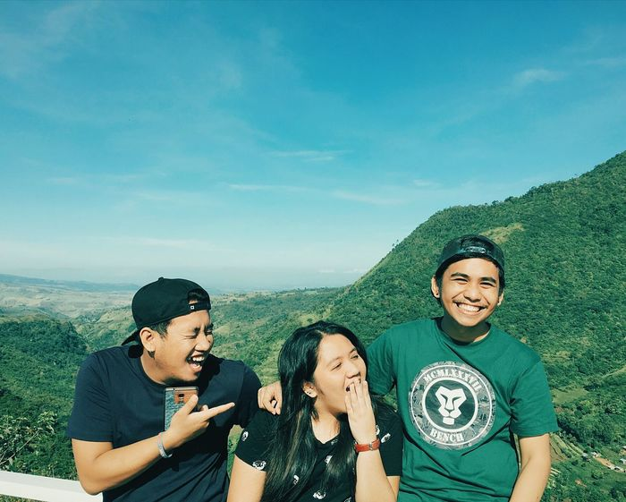 Lost In The Landscape Adult People Two People Adults Only Togetherness Men Happiness Friendship Sky Smiling Vacations Day Only Men Looking At Camera Portrait Cheerful Outdoors Young Adult EyeEmNewHere