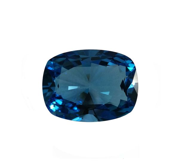 Swiss blue topaz natural gemstone Fashion Precious Carat Color Design Single Opject Style Jemstone Jewel Jewelry Cut Beautiful Transparent Size Shape Yellow Stone Bright Shine Natural Expensive Rich Blue Cushion