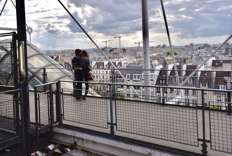 Railing Built Structure Architecture Staircase Cloud - Sky Sky Steps And Staircases Real People Bridge - Man Made Structure Steps Day Love Above Paris Manandwoman Full Length Building Exterior Outdoors Lifestyles Men City Hand Rail People