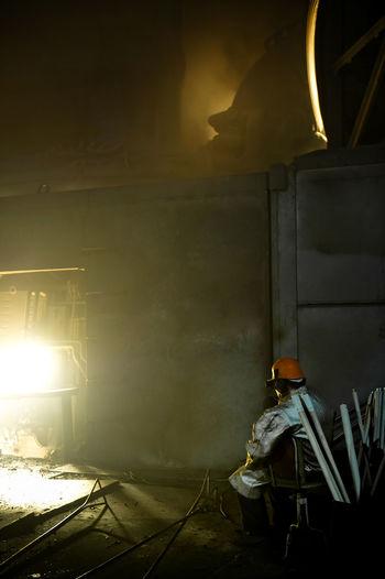 Man Working In Metal Factory