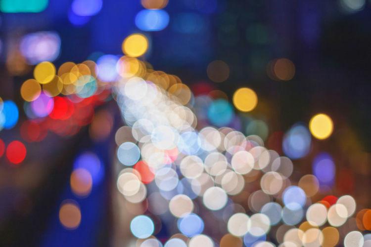 Defocused spotted lights