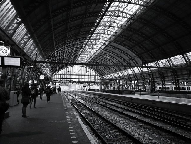 Transportation Railroad Station Rail Transportation Indoors  Public Transportation Railroad Station Platform Sloterdijk Amsterdam