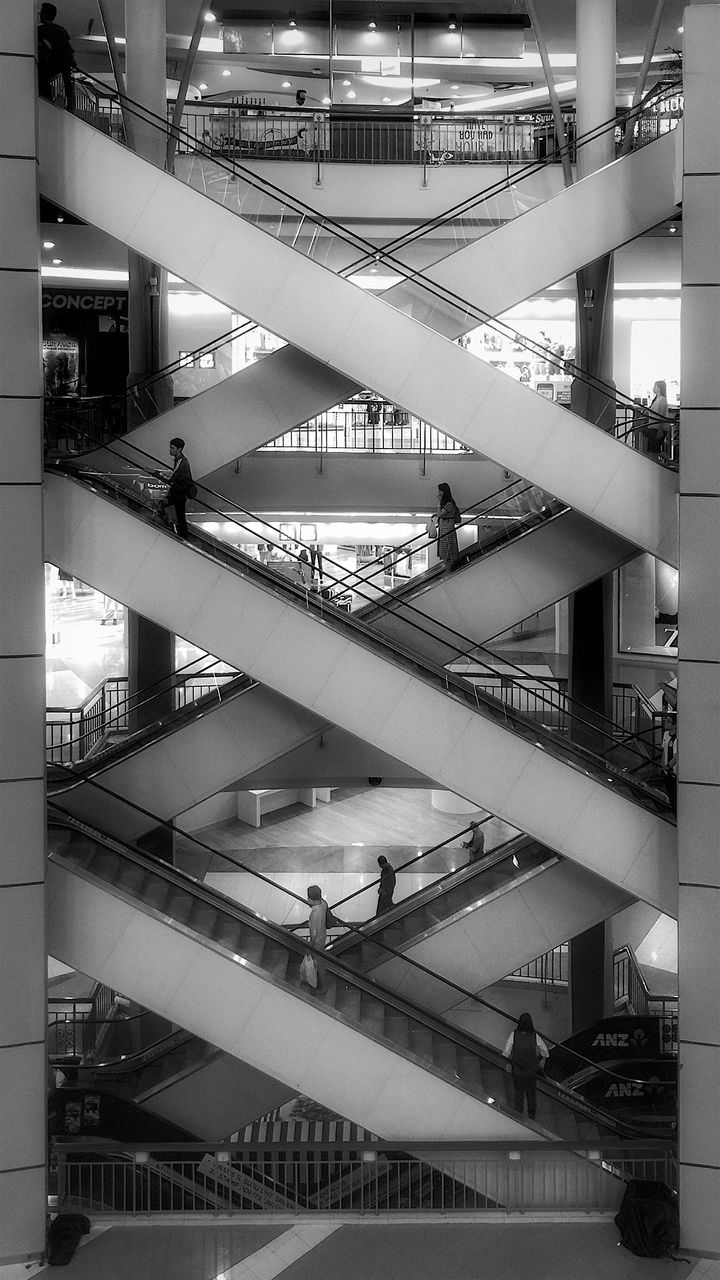 architecture, steps and staircases, built structure, railing, steps, staircase, modern, building exterior, indoors, day, real people