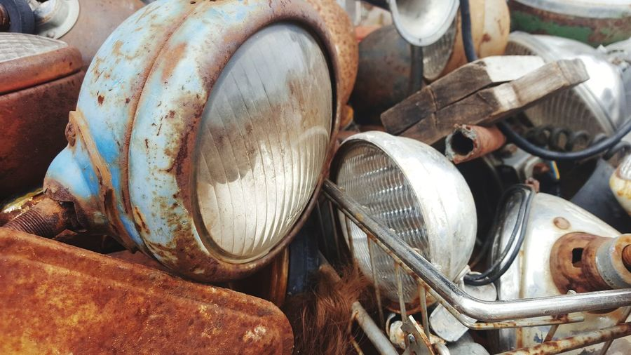 retired lights Junk Cars Just Photography Old Headlights Antique Lost Places Junkyard Junk