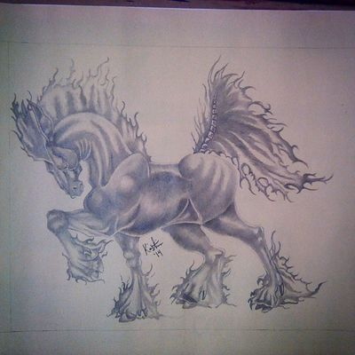 Art Artist Graphite Drawing mystical creature nightmare instagram photooftheday