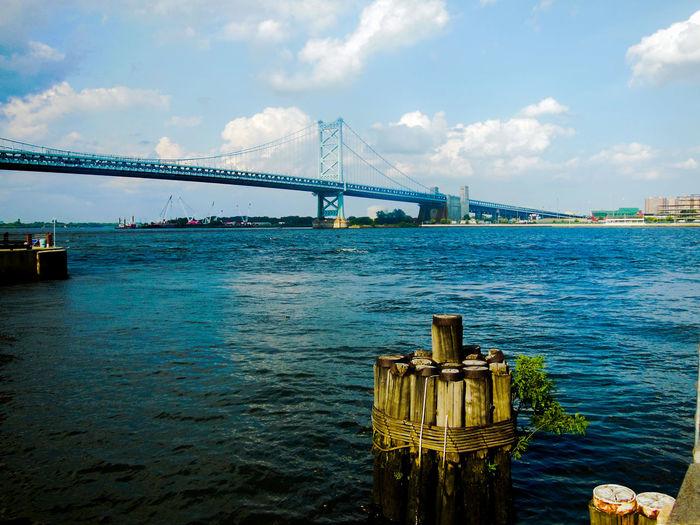 Bridge - Man Made Structure Philadelphia Penn's Landing Philadelphia Water Tranquility Phi-love-delphia