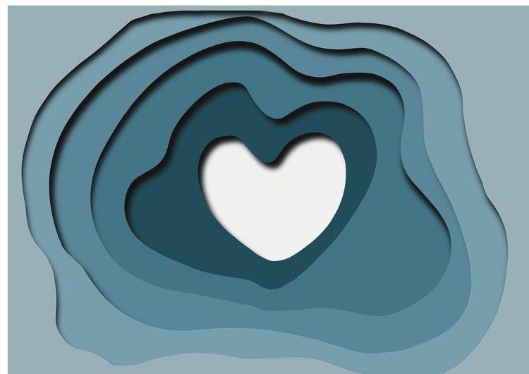 Close-up of heart shape made