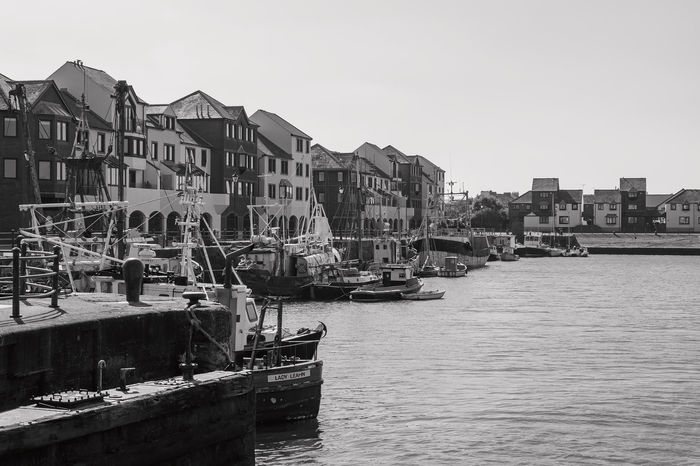 Black & White Black And White Photography Black&white Blackandwhite Blackandwhite Photography Boat Boats Commercial Dock Fishing Fishing Village Harbour Harbour View Mode Of Transport Mono Monochromatic Monochrome Monocrome Sea Sea And Sky Sea View Seascape