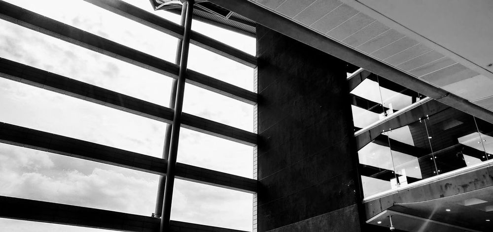 see the light.. Photowalktheworld Inspirational Black And White Surreal Manipulation Oneplus6 Modern Girder Business Finance And Industry Sky Architecture Building Exterior Built Structure Cable-stayed Bridge Footbridge Railway Bridge Office Building Architectural Detail Architectural Feature Skylight Engineering