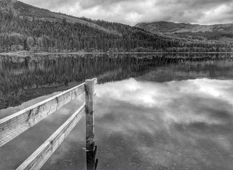 Taking Photos Loch Chon Fujifilmxe1 Fujifilm_xseries B&W Landscape Scotland B&w Water Reflections