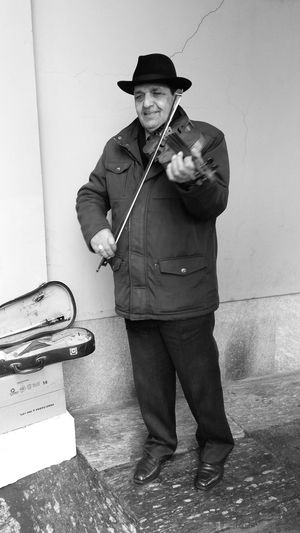 Violinist Streetphotography Black And White Blackandwhite Photography Playing Music Playing Violin