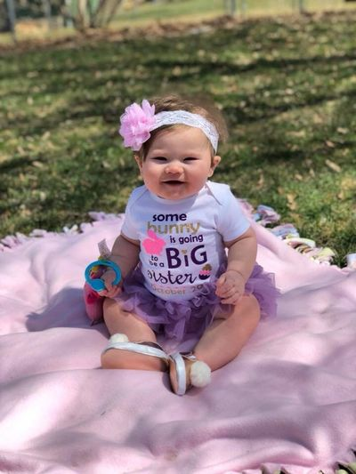 Some buddy's going to be a big sister in October Grandchild. Joy Of My Life SunsLight Outdoors, Nature Innocence & Curiosity Babyhood People High Angle View Child Baby Young Childhood Real People Cute This Is Family One Person