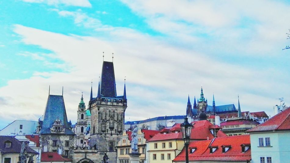 Prague Prague Castle Architecture Panorama Towers Old Town Building Exterior City Rooftops Cloud - Sky Historical Building History Design Building And Sky View Walking Around The City  Architecture_collection Enjoying The View Charlesbridge