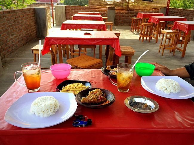 Chicken food, Food And Drink Chair Drinking Glass Food Table Plate Breakfast Drink Ready-to-eat Restaurant Serving Size Freshness Healthy Eating Sweet Food Indoors  Cafe Chickens Asian Foods Asianfood Indonesian Food Java Foods