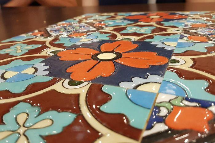 Colourful Table Tiles Design Tile Design Singapore Multi Colored Pattern