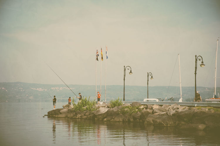 Calm Coastline Day Fishing Fishing Rod Hobbies Horizon Over Water Nature Nature Nature_collection Ocean Power Line  Scenics Sea Seascape Sky Solitude Summer Tourism Tranquil Scene Tranquility Vacations Water Waterfront Weekend Activities