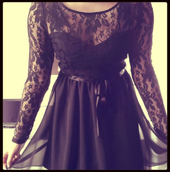 new dress^^ Lace Dress Little Black Dress I Love My New Dress