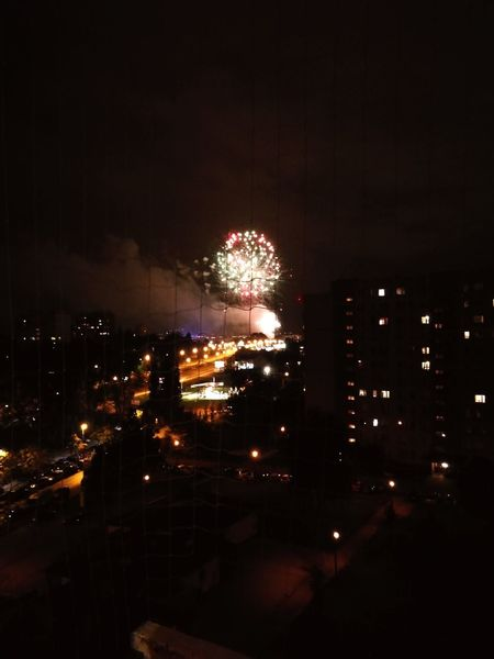 Celebration Event Illuminated Exploding Firework Display AI Now