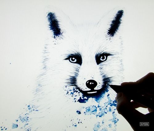 """Snowfox"" - Work in progress Illustration Design Digital Art Drawings Creativity Artist My Artwork Watercolor Aquarelle Artgallery Printing Photoshop Drawing Art Gallery ArtWork Creative Snowfox Animal"
