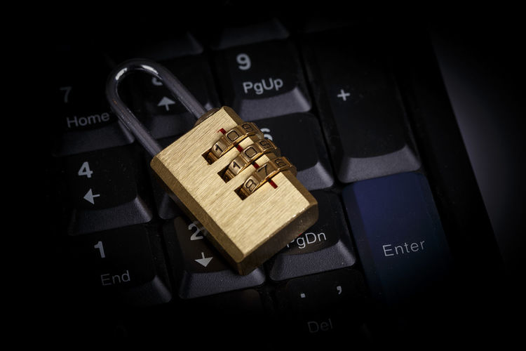 lock on black keyboard - information security Security Antivirus Crack Cryptography Defend Hack Information Infosec Keyboard Lock Virus