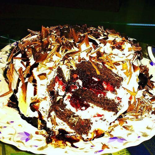 Homemadecake Whiteforestcake Rina Mylove Freshfruit Cooking Foodporn