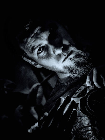 . obscuritas ... Black Mirror Blackandwhite Canon 450D Charlie Grotesk Creative Light On My Face Lighteffect Obscure Selfportrait