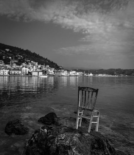 Dream Chair Beauty In Nature Bnw Bnw_captures Bnw_collection Chairswithstories Clouds Clouds And Sky Day Nature No People Outdoors Scenics Sky Tranquility Water
