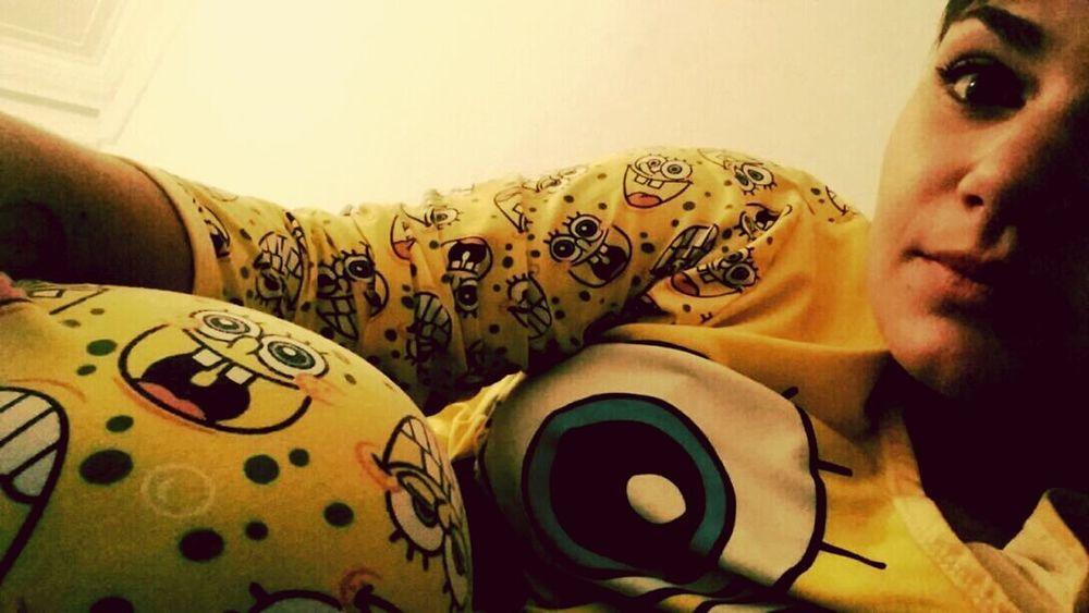 Bobesponja<3 Night Sweetdreams ✌ Mi Pijama <3 Favorito Sleepy Time Relaxing Buenosaires Argentina❤