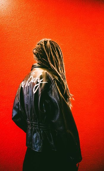 All yours is underground. Abstract Abstract Photography EyeEm Selects Saint Petersburg Red And Black Minimalism Underground Walkway ColorPalette Russia Girl Dreads Studio Shot Colored Background Red Background Women Red Rear View Headshot