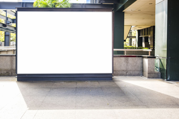 Billboards City Cityscape Advertisement Architecture Billboard Blackboard  Blank Building Exterior Built Structure Business City Day No People Outdoors Placard White White Background White Color