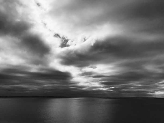 Sea Water Scenics Tranquil Scene Tranquility Horizon Over Water Waterfront Beauty In Nature Sky Nature Cloud - Sky Cloud Seascape Photography Beauty In Nature Calm Cloudy Seascape Day Remote Non-urban Scene Outdoors