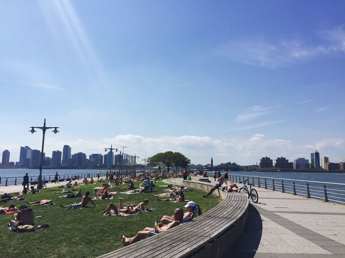 Summer days in NYC Pier Summer New York Chelsea Summertime Summer Vibes Park Suntanning Laying Out