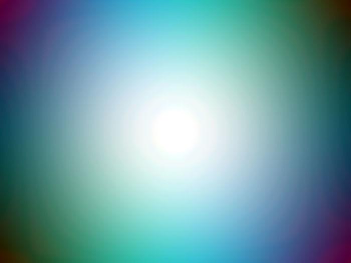 Defocused image of bright sun