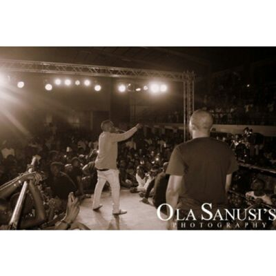 Olasphotography Doubletap Instalike @iceprincezamani and MI doing there thing on stage HardKnocks