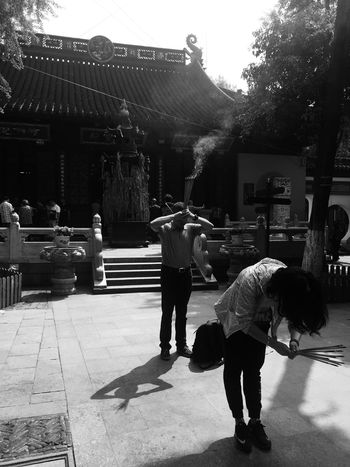 Suzhou Hanshan Temple Temple China Burning Blackandwhite IPhoneography Iphone6 Traveling People People Photography Human Representation EyeEm EyeEm Best Shots