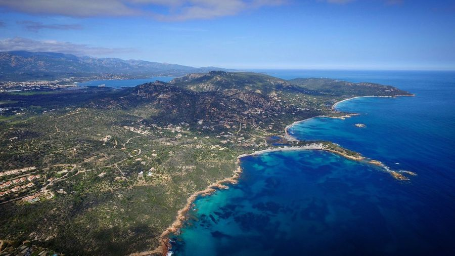 Plages de Porto-Vecchio Scenics Sea Tranquility Beauty In Nature Mountain Tranquil Scene Aerial View Nature Idyllic Sky Water No People Outdoors Landscape Palombaggia Corse Corsica Korsica