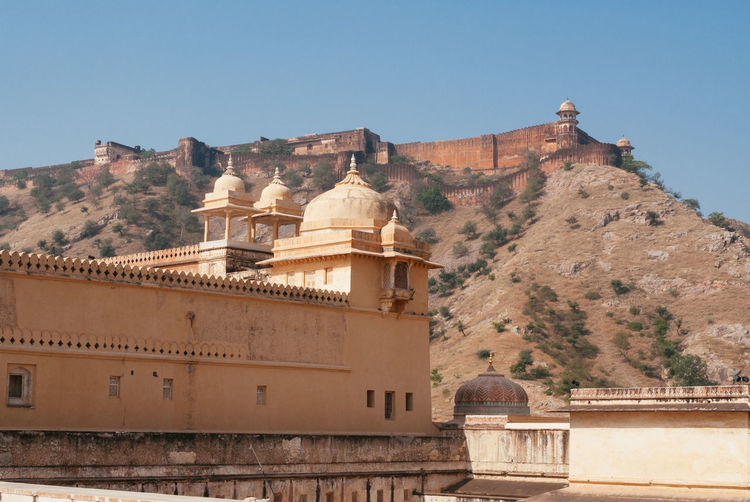 Amber Fort Amber India Indian Jaipur Amber Fort Architecture Building Fort Fortified Wall Heritage History Landmark No People Old Palace Rajasthan Tourism Travel Travel Destinations Wall
