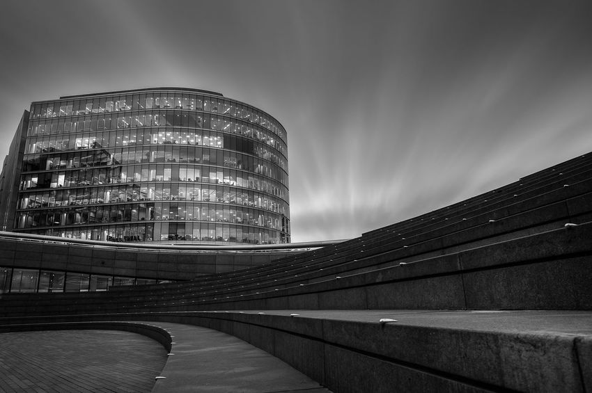 Curves and lines Abstract Photography Architecture Architecture Building Exterior Built Structure City EyeEm Gallery Longexposure Minimalism Modern No People Sky