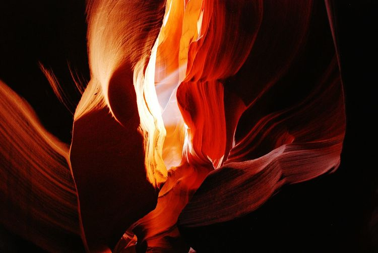 Full Frame Shot Of Rock Formation In Antelope Canyon