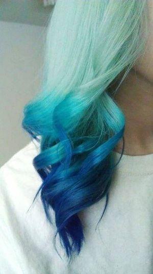 Hair Blue Love Beautiful