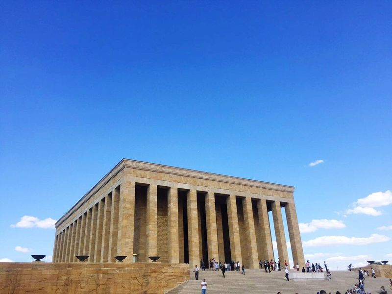 Built Structure Travel Destinations Architecture Tourism Large Group Of People History Real People Architectural Column Travel Sky Day Ancient Civilization Blue Building Exterior Lifestyles Men Women Outdoors Vacations Nature Ankara Türkiye Ankara/turkey Mustafa Kemal Atatürk Ankara Atatürk