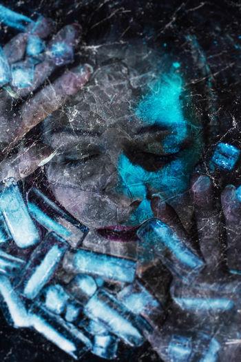 Digital composite image of human face