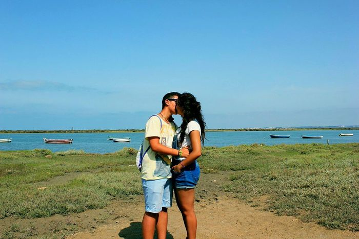 Summertime Summer ☀ Summer2016 Boyfriend❤ Love Boyfriend Lifestyles Casual Clothing Blue Sky Sunny Day Puerto Real, Cádiz. La Algaida Beauty In Nature