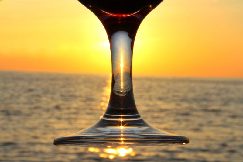 Sunset Beauty In Nature Sea Scenics Outdoors Redwine Glass Sunrays Sunset_collection Sunsetlover Sunsetporn Sunshine
