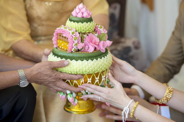 thaiwedding decoration Culture Decoration Gold Money Thai Thaiwedding Thaiweddingceremony Tradditional Wedding Weddingceremony