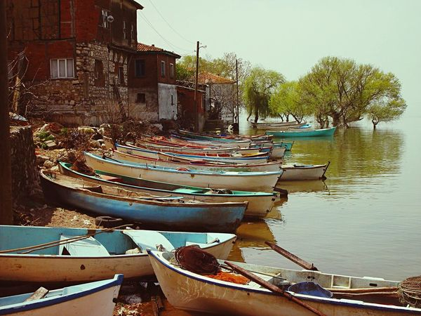 Boats Lake GÖLYAZI Nature The Tourist Landscapes With WhiteWall