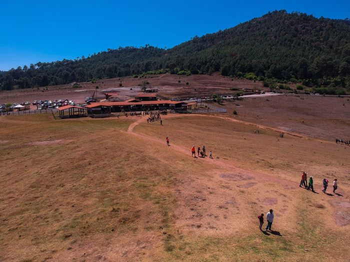 Jalisco Large Group Of People Group Of People Land Real People Crowd Nature Men Landscape Tree Outdoors Day Field High Angle View Mountain Plant