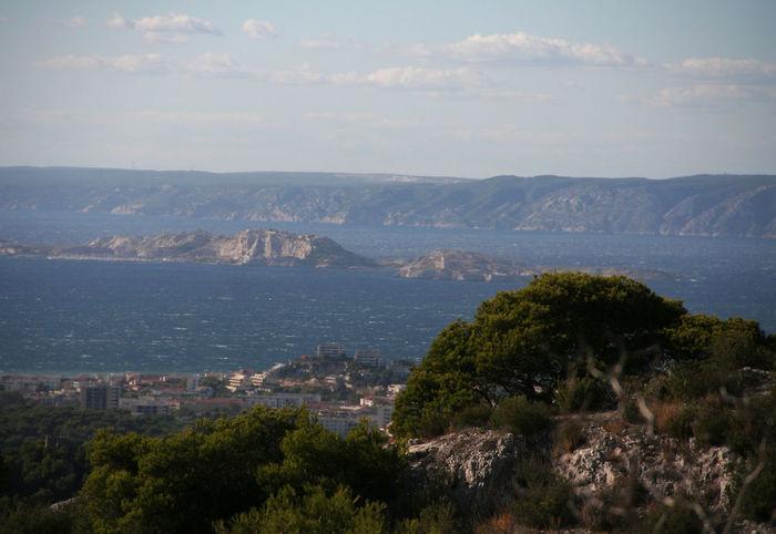 Beauty In Nature Coastline Distant Exploring Marseille Mediterranean  Mountain Méditerranée Outdoors Scenics Sea Tranquil Scene Water